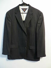 Tommy Hilfiger Mens Navy Blue pinstriped 3 buttoned 42 reg 38x30 suit Awesome