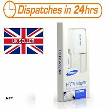 Samsung Galaxy HDMI TV HDTV Adapter - White S4 S5 Note 2 3 4