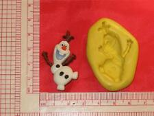 Frozen Olaf 2D Silicone Mold Cake Decor Chocolate Resin Clay A774 Fondant Candy