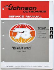 1978 Johnson Outboard Service Manual Electric Outboards Bow Mount Models 78 OEM