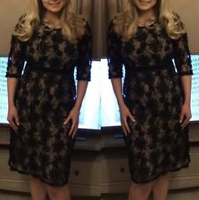 Marks And Spencer Per Una Black Lace Size 12 Dress