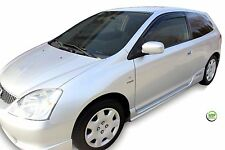 DHO17115 HONDA CIVIC mk7 SPORT 3-DOOR 2001-2005 WIND DEFLECTORS  2pc HEKO TINTED