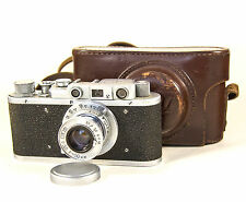 Vintage USSR Camera FED-1 copy Leica with cover #560362