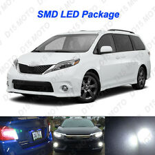 17x Ultra White LED Interior + Reverse + Fog Lights for 2011-2017 Toyota Sienna