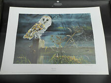 DOROTHEA HYDE LARGE LIMITED EDITION PRINT BARN OWL VGC LOW POST