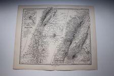 Carte de 1879, atlas Stieler,Gotha J. Perthes  Palästina N°61