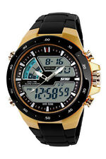 Skmei 1016 S-shock Wristwatch 2 Time Zone Analog Digital LED Quartz Watch