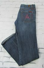 Woman 7 Seven For All Mankind A Pocket Jeans Pink Stitching Size 30x32