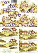 Feuille 3D à découper A4 - Paysage Fleur - 8215.391 Decoupage - Landscape