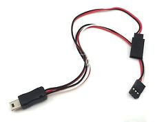 GoPro HERO 3 FPV USB to AV Video Audio Output & 5V DC Power BEC Input Cable