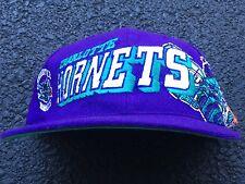 NOS 90s VTG Charlotte HORNETS SnapBack Hat NWOT SPORTS SPECIALTIES Wave OG Logo