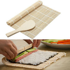 1X New Bamboo Sushi Making Mat Maker Roller Roll Kit Preparation Equipment Tool