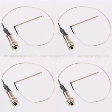4X 1/4' Mono End Pin Jack With Piezo Pickup Under-Saddle Passive For  Guitar