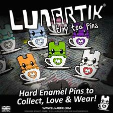 ONE BLIND BAG TINY TEA HARD ENAMEL PIN LUNARTIK
