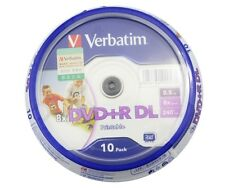 10 pack Verbatim DVD+R DL 8X Dual Layer Printable D9 8.5GB Double Dual Layer dic