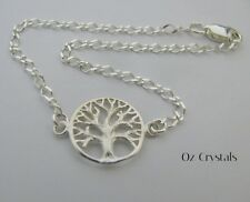 Solid Sterling Silver Celtic Tree Of Life Bracelet - 19 cm's