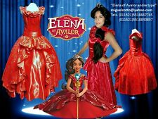 Elena of Avalor Disney Girls costume dress party kids ball gown princess attire
