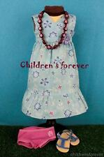American Girl Doll of the year 2011 Kanani Meet Outfit Dress Necklace Sandal & +