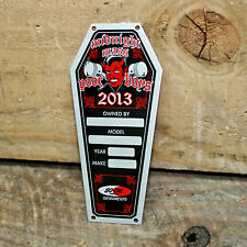 VINTAGE STYLE DASH PLAQUE CAR SHOW RAT HOT ROD CUSTOM OLD SCHOOL CLUB TIMING TAG