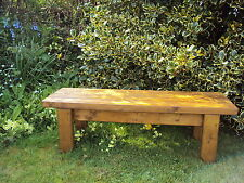Quality Handmade Garden-kitchen-Dining-utility Wooden Bench Sturdy And Solid 4FT