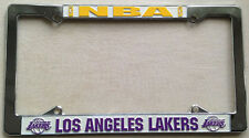 Los Angeles Lakers NBA Metal Laser Cut Chrome License Plate Frame Auto Car Truck