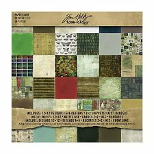 TIM HOLTZ Idea-ology Double Sided Paper Pad 12x12 CROWDED ATTIC  TH92897  R