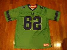 NEW Marvel Comics The Incredible Hulk Football Jersey LARGE T Shirt New With Tag