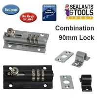 Squires Combi Bolt 3 Recodeable Combination Locking Door Bolt Shed Gate Garage