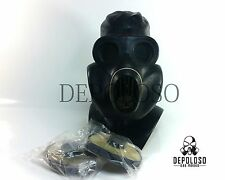 Soviet army paratrooper gas mask EO-19 PBF Black rubber mask