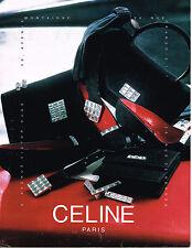 PUBLICITE ADVERTISING 094  1990   CELINE   boutique accessoires sacs ceintures