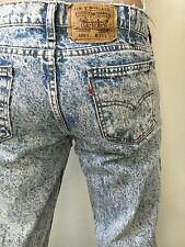 Rare VTG Levi 506 Authentic Orange Tab 33x30 Acid Wash Jeans Mens 501 511 32 31