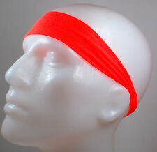 "NEW! 2"" Super Soft Neon Orange Hair Band Head Sports Sweat Headband Stretchy"