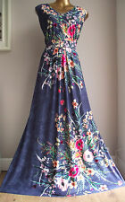 MONSOON BOTANICAL FLORAL MEADOW BUTTERFLIES FLOWERS WINTER SUN MAXI DRESS 18