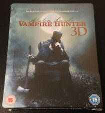 ABRAHAM LINCOLN VAMPIRE HUNTER 3D Blu-Ray SteelBook UK Exclusive Tim Burton Rare