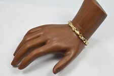 "14k Yellow Gold Statement Bracelet 7.25"" Length RFI Brand United States Beauty"