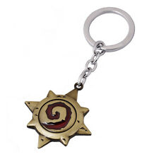 Hearthstone Heroes of Warcraft Game WOW Metal Key Chain Fans Gift
