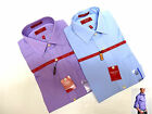 CHAPS mens English Lilac solid Slim Fit Wrinkle Free Long Sleeve Dress shirt NEW