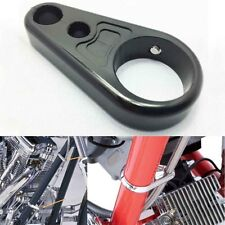 """1"""" 25mm Black Alloy Brake Clutch Cable Wire Clamp for Harley Chopper Sportster"""