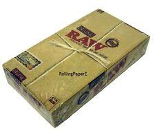 FULL BOX RAW 1 1/4 ORGANIC Vegan Natural HEMP Cigarette Rolling Papers 24 packs
