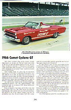 1966 Mercury Comet Cyclone GT Convertible Article - Must See !!