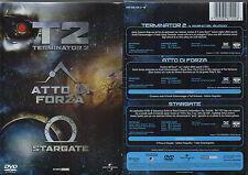 TERMINATOR 2 + ATTO DI FORZA + STARGATE - BOX 3 DVD (NUOVO SIGILLATO)