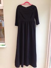 BLACK DRESS SIZE 16 FULL LENGTH BY DELPHINE MANIVET CUT OUT BACK & BUTTONS BNWT