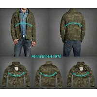 NWT ABERCROMBIE & FITCH MENS MILITARY-INSPIRED JACKET COAT CAMO SIZE M,L A&F