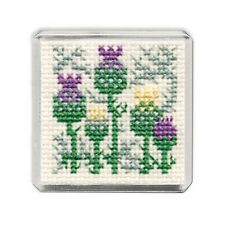 Fridge Magnet Scottish Cross Stitch Kit; 'Scottish Thistle' by Textile Heritage