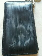 100% Authentic louis vuitton epic leather key chain coin holder