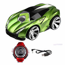 Red LAMBO AUTO VEICOLO COMANDO Voice con Smart Watch KID 2.4g