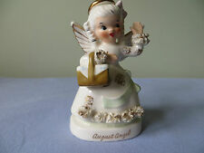VINTAGE NAPCO AUGUST BIRTHDAY ANGEL NUMBER A1368