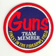 Guns Team Member Finest in Firearms HTF Vintage Shooting Patch Fish & Game