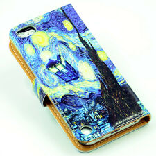 Tardis Doctor Who Starry Night Leather Card Wallet Case For ipod Touch 5 5th
