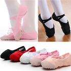 Adult Child Dance Ballet Shoes Canvas Gymnastics Slippers Pointe Dance 20 Sizes